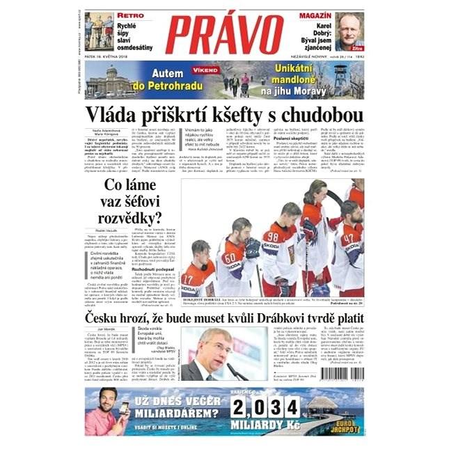 Právo - 18-05-2018 - Elektronické noviny
