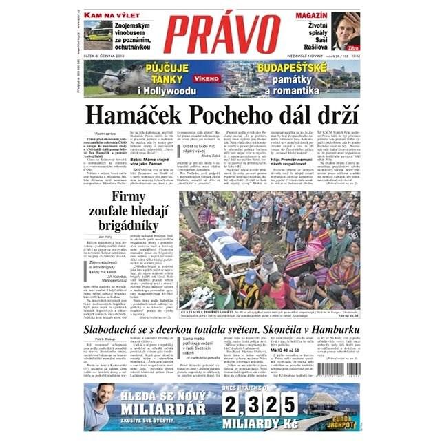 Právo - 08-06-2018 - Elektronické noviny