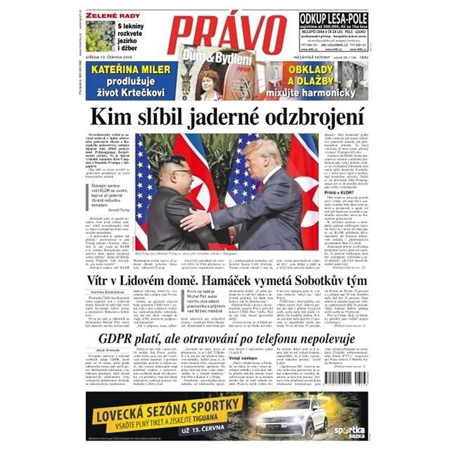 Právo - 13-06-2018 - Elektronické noviny