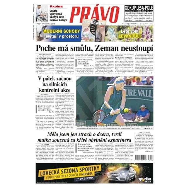 Právo - 27-06-2018 - Elektronické noviny