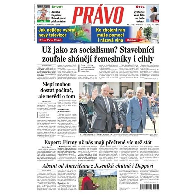 Právo - 30-07-2018 - Elektronické noviny