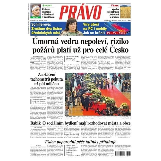 Právo - 20-08-2018 - Elektronické noviny