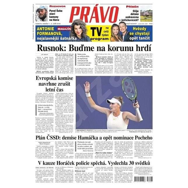 Právo - 01-09-2018 - Elektronické noviny