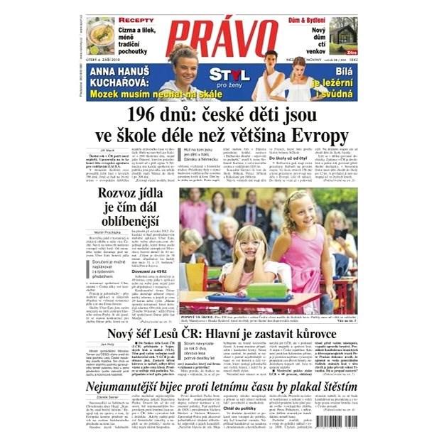 Právo - 04-09-2018 - Elektronické noviny