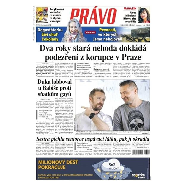 Právo - 14-09-2018 - Elektronické noviny