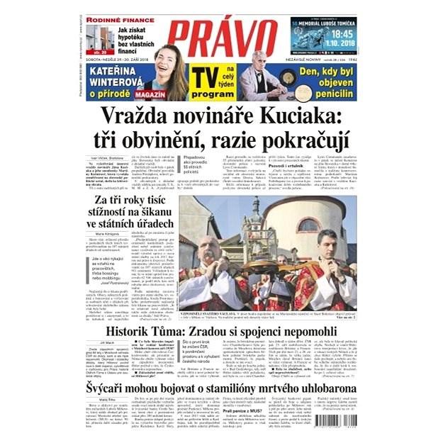 Právo - 29-09-2018 - Elektronické noviny
