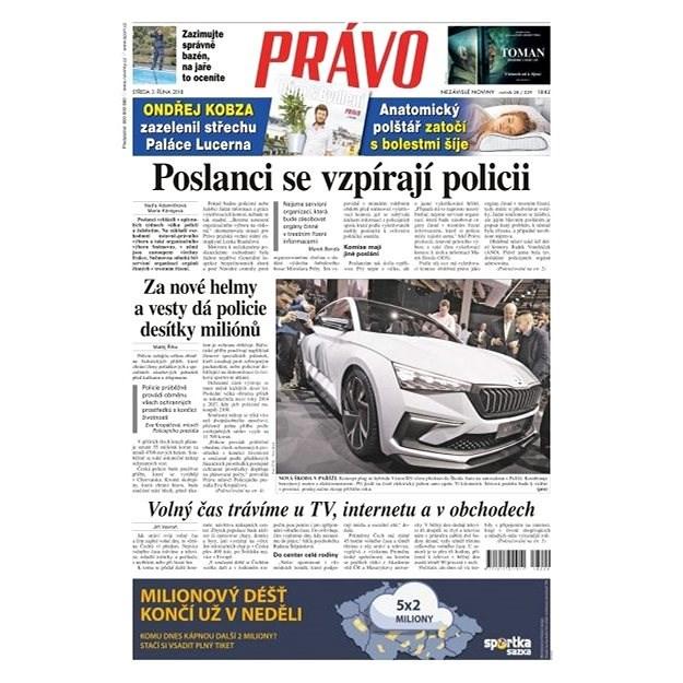 Právo - 03-10-2018 - Elektronické noviny