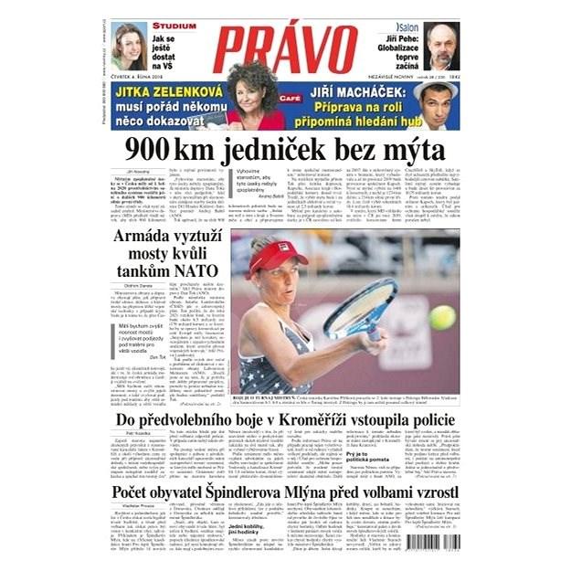 Právo - 04-10-2018 - Elektronické noviny
