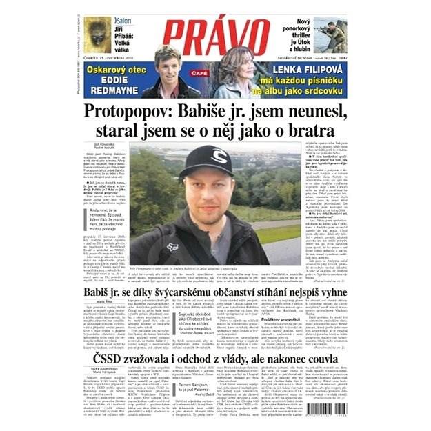 Právo - 15-11-2018 - Elektronické noviny