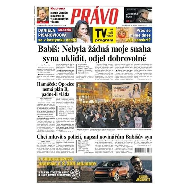 Právo - 16-11-2018 - Elektronické noviny