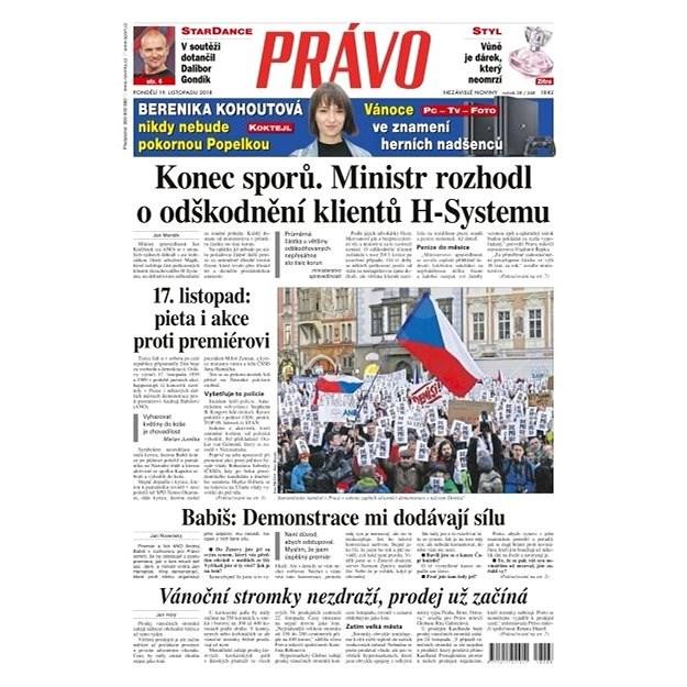 Právo - 19-11-2018 - Elektronické noviny
