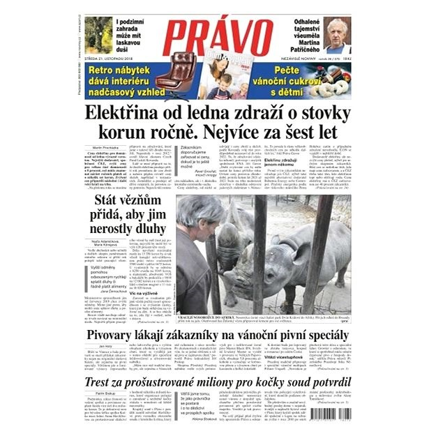 Právo - 21-11-2018 - Elektronické noviny