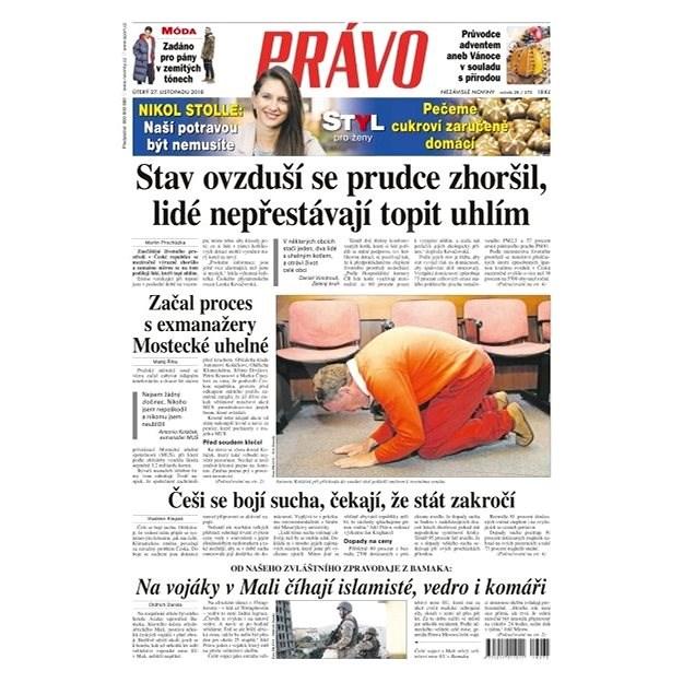 Právo - 27-11-2018 - Elektronické noviny