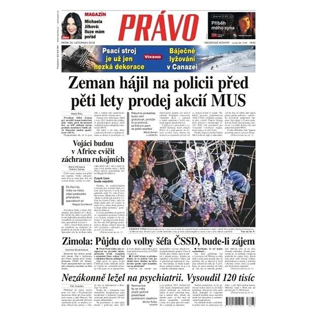 Právo - 30-11-2018 - Elektronické noviny