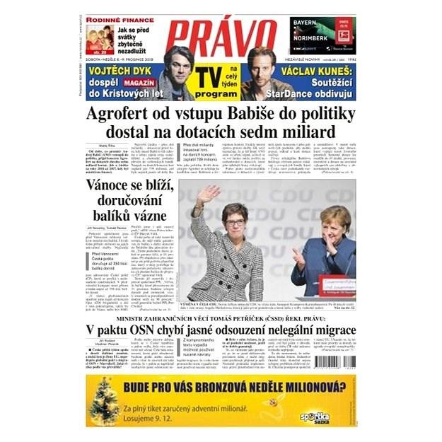 Právo - 08-12-2018 - Elektronické noviny
