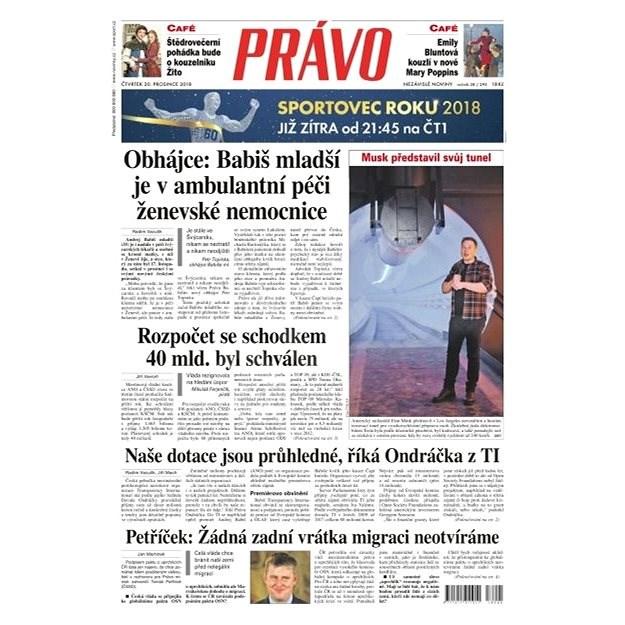 Právo - 20-12-2018 - Elektronické noviny