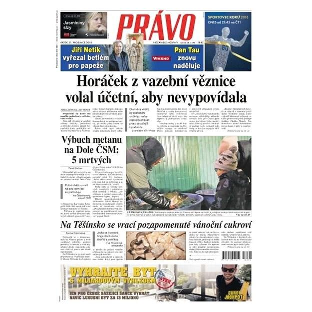 Právo - 21-12-2018 - Elektronické noviny