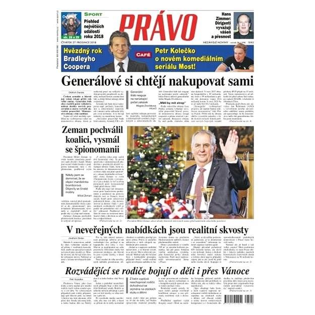 Právo - 27-12-2018 - Elektronické noviny