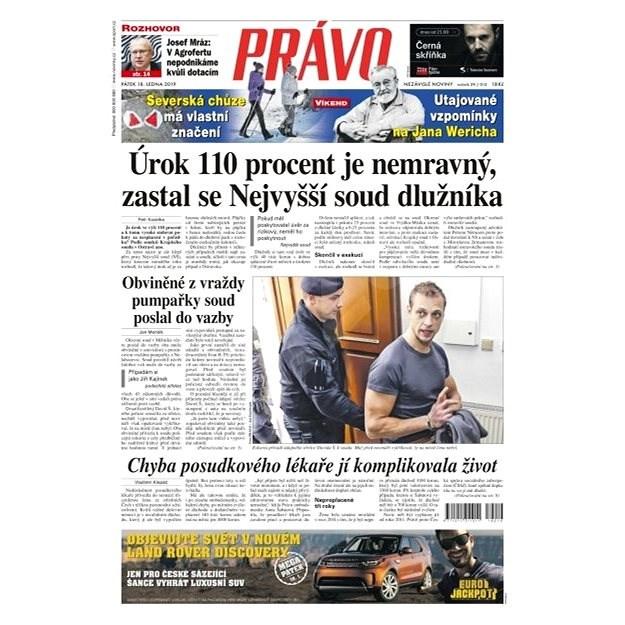 Právo - 18-01-2019 - Elektronické noviny