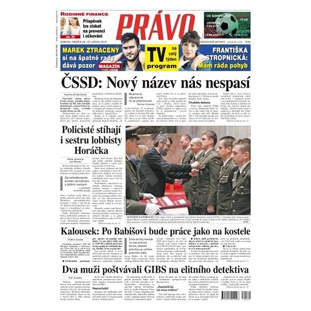 Právo - 26-01-2019 - Elektronické noviny