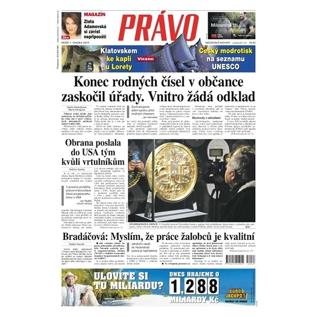 Právo - 01-02-2019 - Elektronické noviny