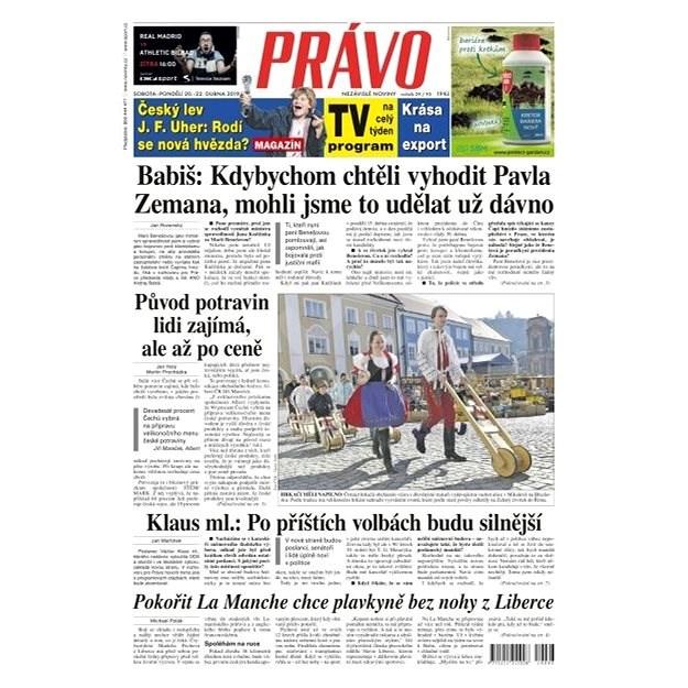 Právo - 20-04-2019 - Elektronické noviny