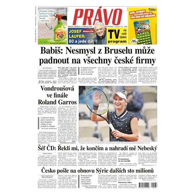 Právo - 08-06-2019 - Elektronické noviny