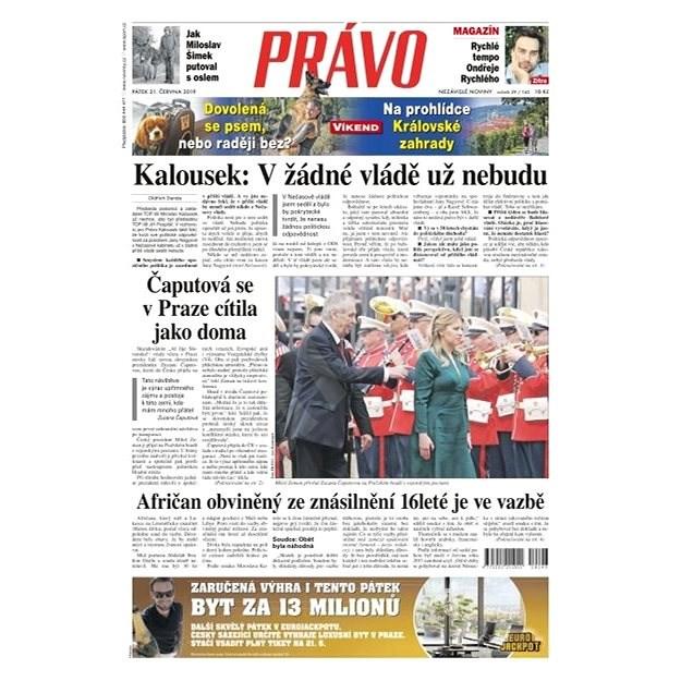 Právo - 21-06-2019 - Elektronické noviny
