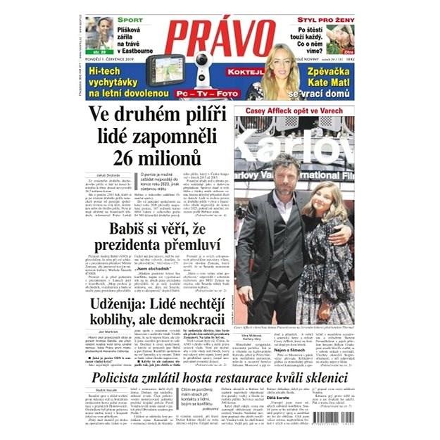 Právo - 01-07-2019 - Elektronické noviny