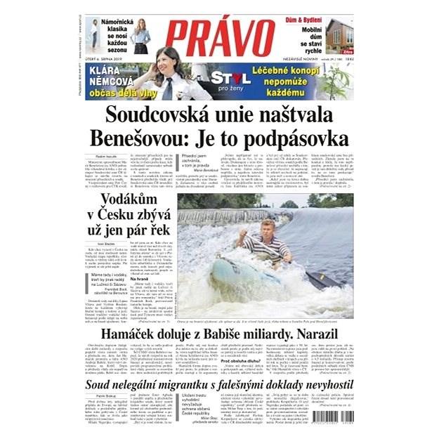Právo - 06-08-2019 - Elektronické noviny