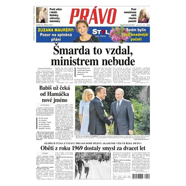 Právo - 20-08-2019 - Elektronické noviny