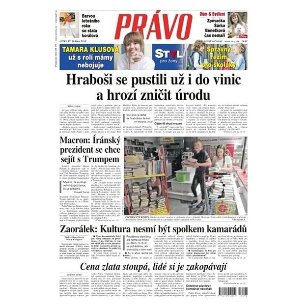 Právo - 27-08-2019 - Elektronické noviny