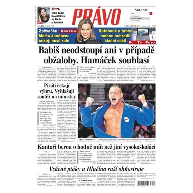 Právo - 02-09-2019 - Elektronické noviny