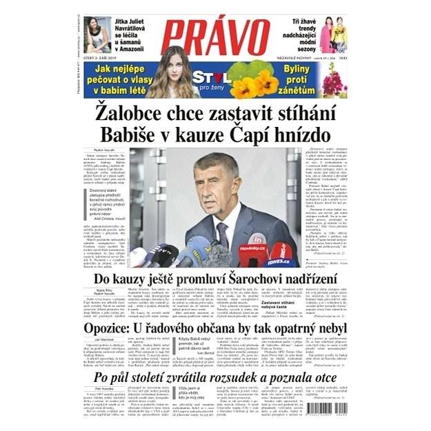Právo - 03-09-2019 - Elektronické noviny