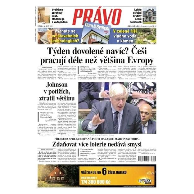 Právo - 04-09-2019 - Elektronické noviny