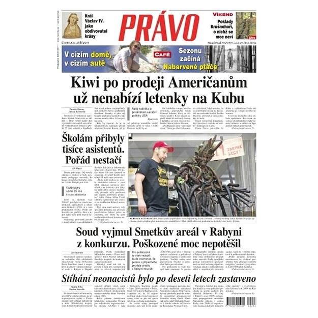 Právo - 05-09-2019 - Elektronické noviny