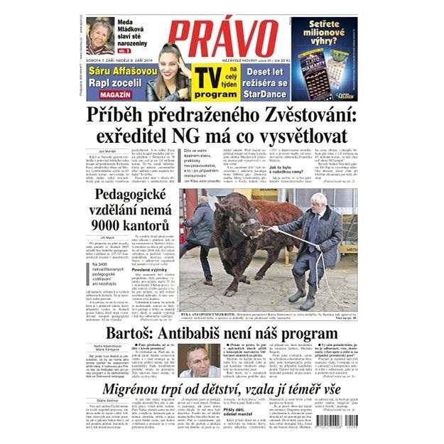 Právo - 07-09-2019 - Elektronické noviny