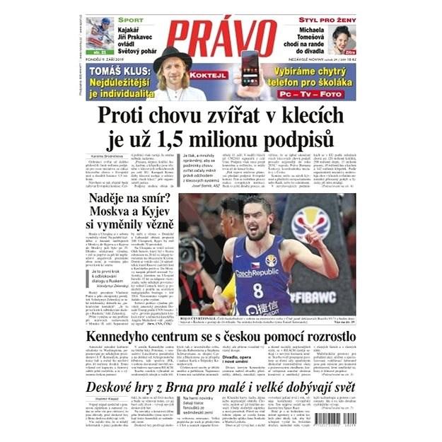 Právo - 09-09-2019 - Elektronické noviny