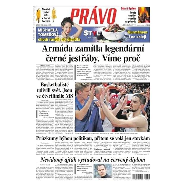 Právo - 10-09-2019 - Elektronické noviny