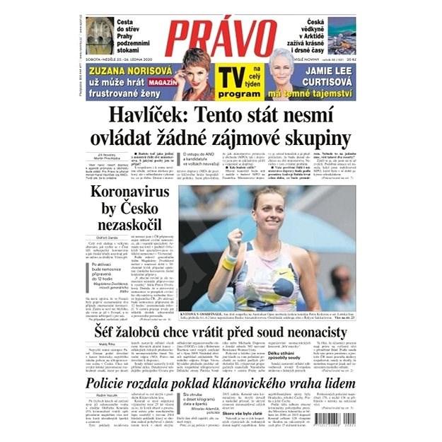 Právo - 25-01-2020 - Elektronické noviny