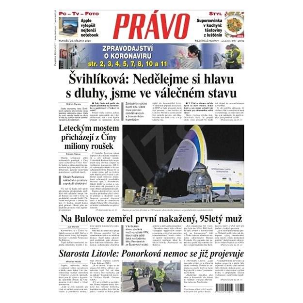 Právo - 23-03-2020 - Elektronické noviny