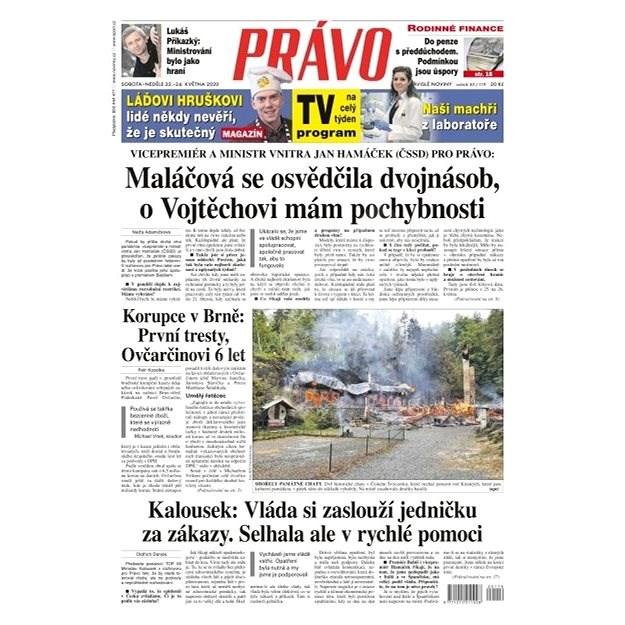 Právo - 23-05-2020 - Elektronické noviny