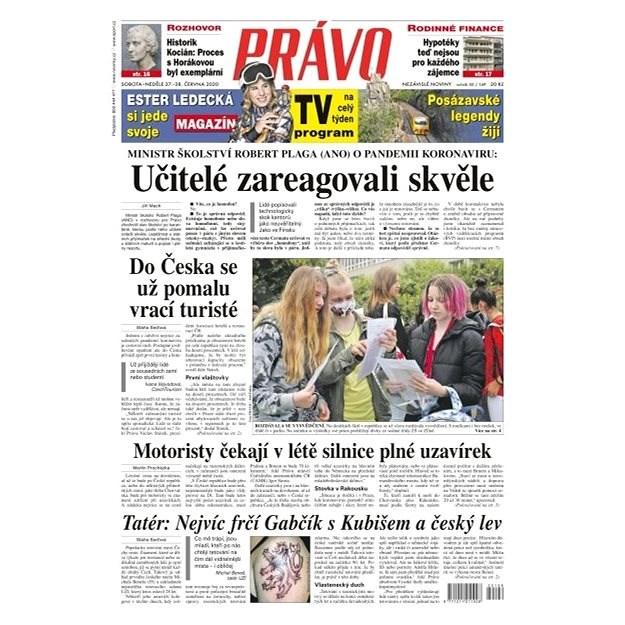 Právo - 27-06-2020 - Elektronické noviny