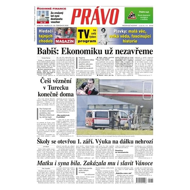 Právo - 25-07-2020 - Elektronické noviny