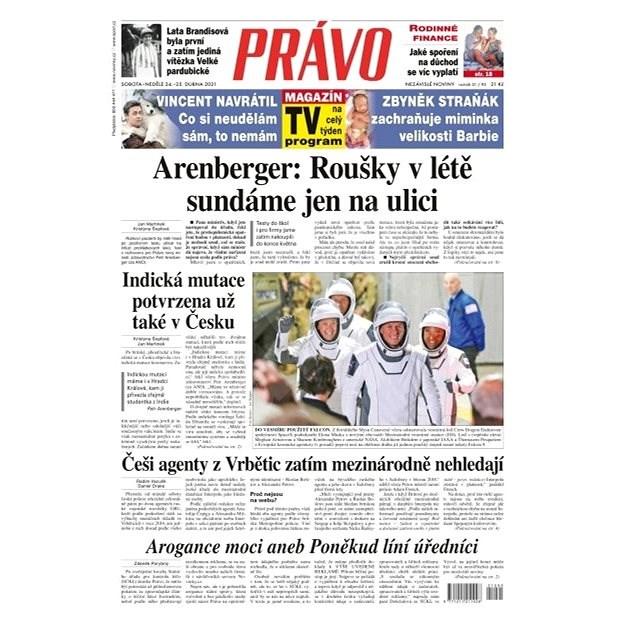 Právo - 24-04-2021 - Elektronické noviny