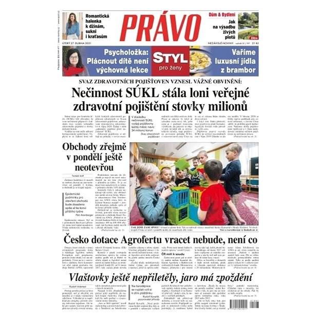 Právo - 27-04-2021 - Elektronické noviny