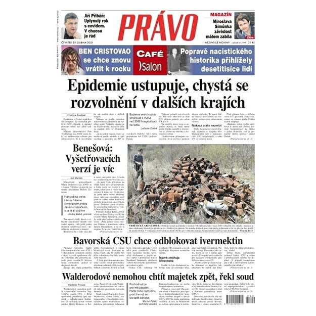 Právo - 29-04-2021 - Elektronické noviny