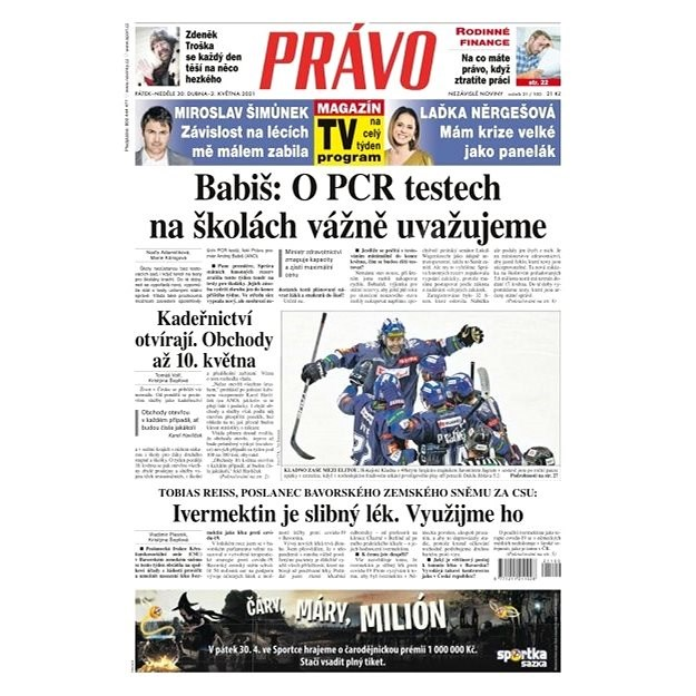 Právo - 30-04-2021 - Elektronické noviny