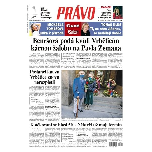 Právo - 06-05-2021 - Elektronické noviny