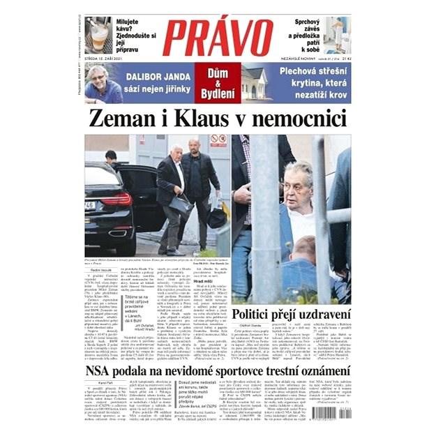 Právo - 15-09-2021 - Elektronické noviny